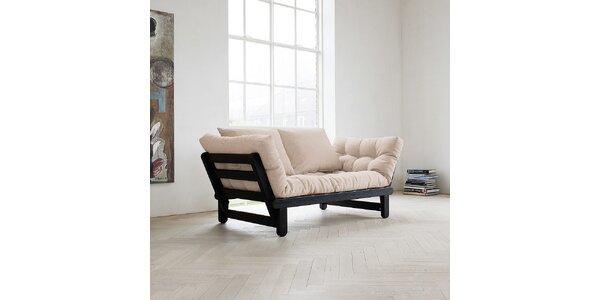 Rozkládací sofa KARUP BEAT PINE FSC BLACK/VISION