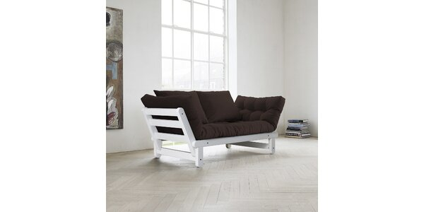 Rozkládací sofa KARUP BEAT FSC WHITE/BROWN