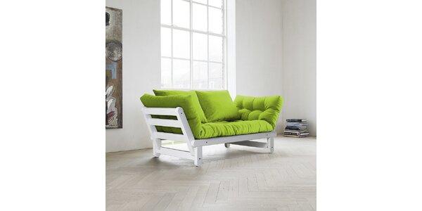 Rozkládací sofa KARUP BEAT FSC WHITE/LIME
