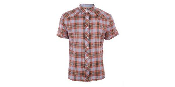 Pánská barevně kostkovaná košile Timeout s krátkým rukávem