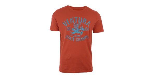 Pánské oranžové tričko s krátkým rukávem Timeout