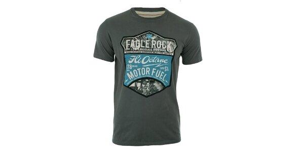 Pánské šedé tričko s krátkým rukávem a potiskem Timeout