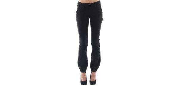 Dámské černé kalhoty s kapsami Fornarina