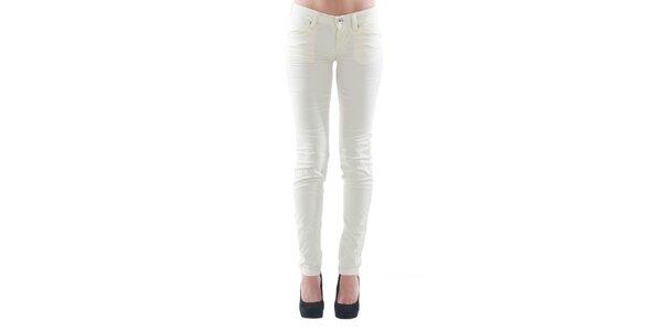 Dámské bílé kalhoty s kapsami Fornarina