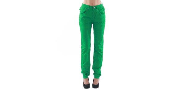 Dámské rovné zelené kalhoty Fornarina