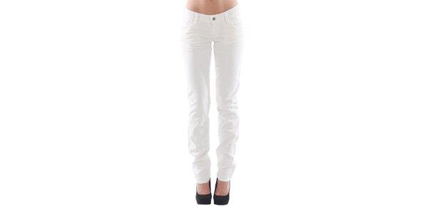 Dámské přiléhavé bílé kalhoty Fornarina