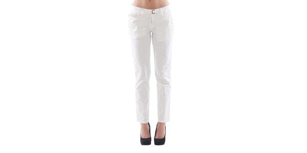 Dámské bílé kalhoty s páskem Fornarina