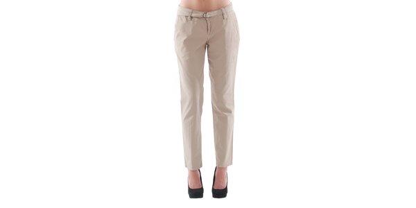Dámské béžové kalhoty s páskem Fornarina