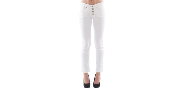 Dámské bílé džíny s knoflíky Fornarina