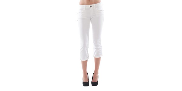 Dámské 3/4 bílé džínové kalhoty Fornarina