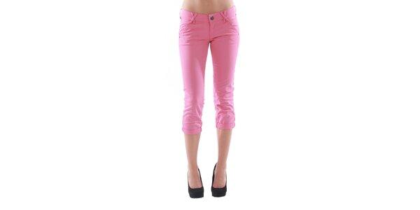 Dámské 3/4 růžové kalhoty Fornarina