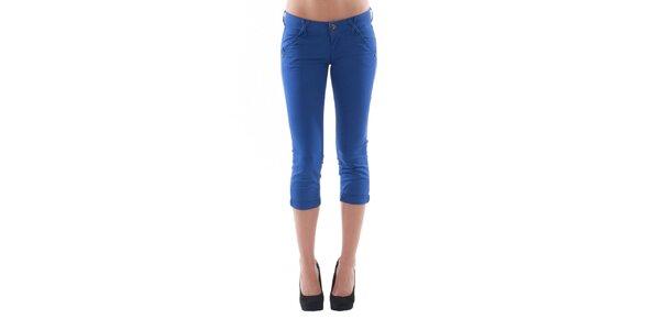 Dámské 3/4 modré kalhoty Fornarina