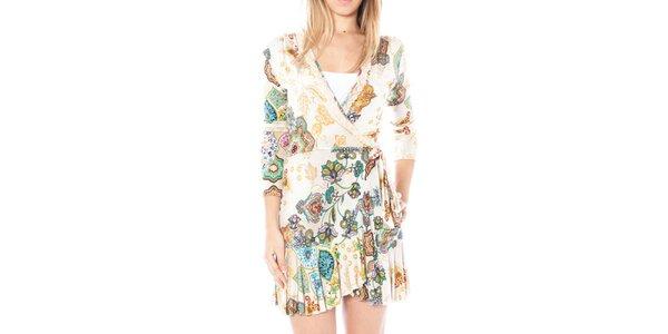 Dámské světlé šaty s potiskem Nancy N.