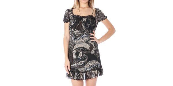 Dámské černé šaty s potiskem Nancy N.