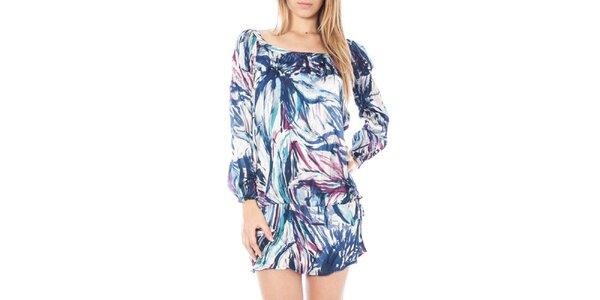 Dámské modře vzorované vzdušné šaty Nancy N.