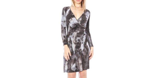 Dámské zavinovací šaty se zvířecím vzorem Nancy N.