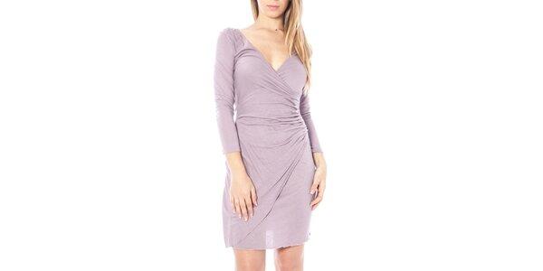 Dámské světle fialové nařasené šaty Nancy N.