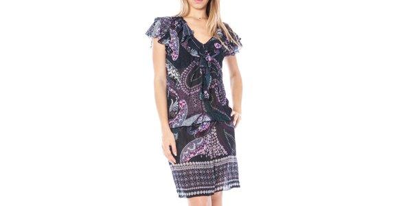 Dámské šaty s volánkovými rukávy Nancy N.