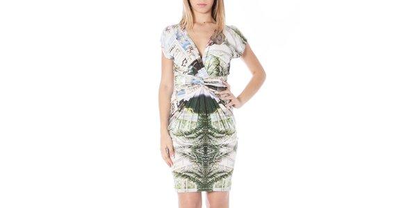 Dámské šaty s barevným potiskem Nancy N.