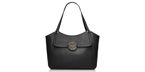 Dámská černá kožená kabelka přes rameno Tory Burch