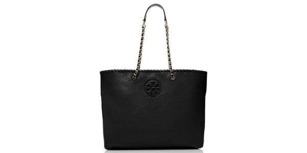 Dámská černá kabelka s řetízkovými uchy Tory Burch
