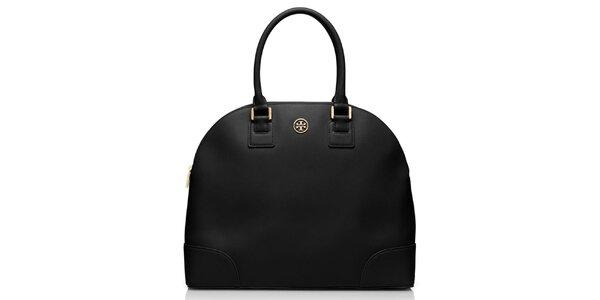 Dámská černá kožená bowlingová taška Tory Burch