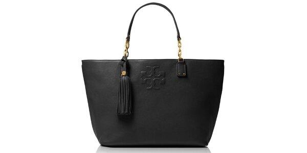 Dámská černá kožená kabelka se střapcem Tory Burch
