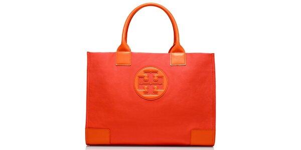 Dámská oranžová hladká kabelka Tory Burch
