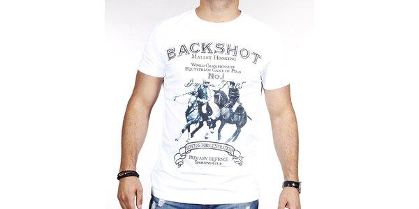 Pánské bílé tričko s pólem Pontto
