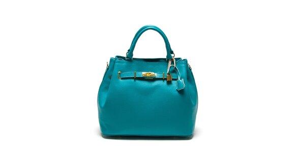 Dámská tyrkysová kabelka se zámečkem Isabella Rhea
