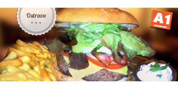 Sleva 50 % na burgery v A1 restaurant