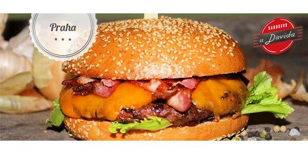 Sleva 40 % na vybrané burgery v BBQ U Davida