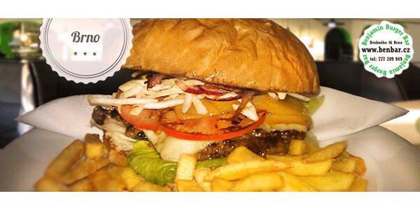 40% sleva na burger menu v Benjamin Burger Baru