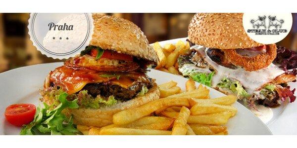 Sleva 50 % na kuřecí či hovězí burger ve Steak & Club