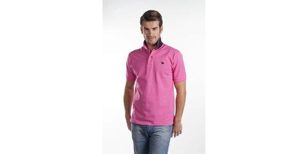 Sytě růžové polo tričko Toro