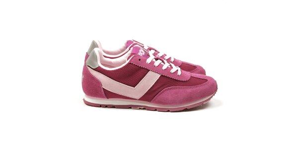 Dámské růžové tréninkové tenisky Pony