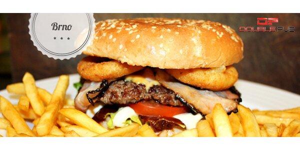 50% sleva na jakýkoli burger v Double Pub