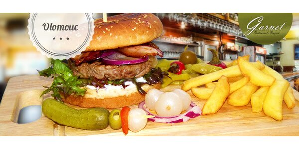 Sleva 40 % na Olomoucký hovězí hamburger