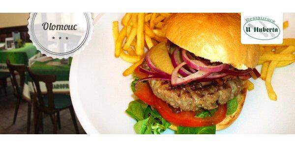 Sleva 40 % na domácí hamburgery U Huberta
