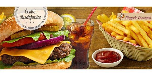 Sleva 50 % na Giovanni Mega Burger Menu