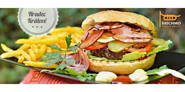 Sleva 40 % na šťavnaté burgery v Satchmo