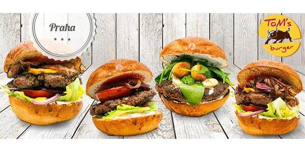 Sleva 47 % na výtečné burgery v Tom's Burger