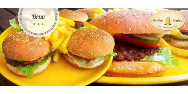 Sleva 40 % na jakékoli burgery v Marley Baru