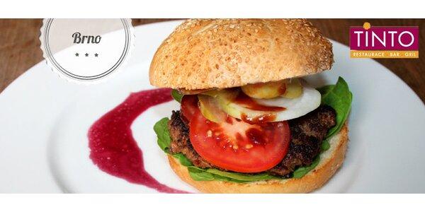 Sleva 40 % na burgery v restauraci Tinto