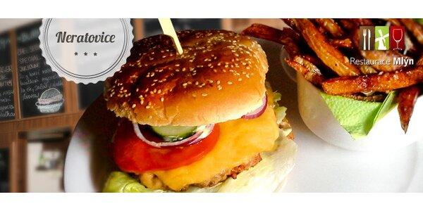 40% sleva na Cheesburger a parmazánové hranolky