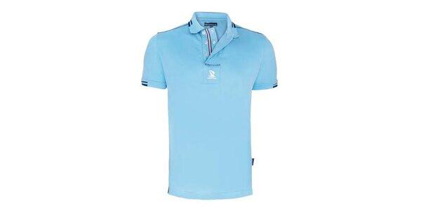 Pánské modré polo triko s dvouřadým límečkem Giorgio di Mare