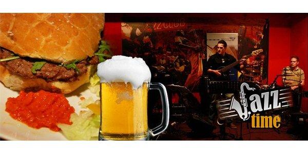 295 Kč za jazzový koncert a večeři s pivem pro DVA v klubu Jazz Time!