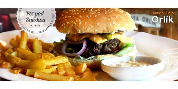 Sleva 40 % na Krkonošský burger v chatě Orlík
