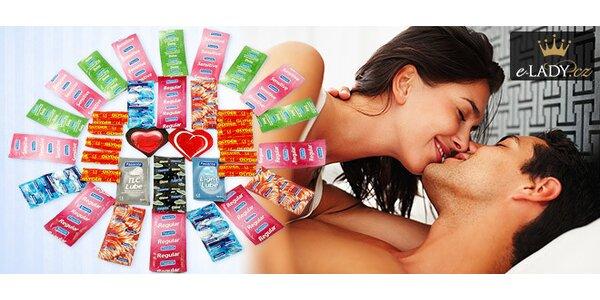 Megabalení 56 kondomů Durex a Pasante