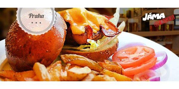 Sleva 40 % na burgery v Jámě a Jáma Steak House